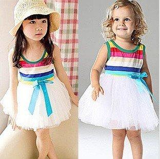 20134dress ,cute baby girl's sleeveless dress for summer ,children tutu dress ,free shipping 4pcs/lot