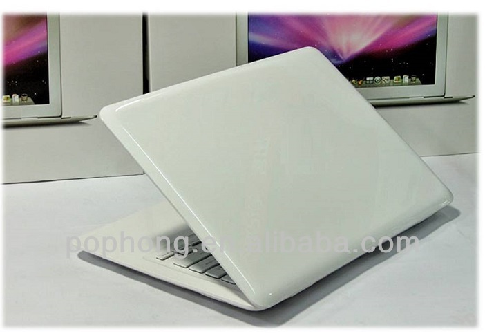 Ultra thin 13.3 inch laptop Intel Atom D2500 2gb/640gb windows 7/wifi webcam notebook computer