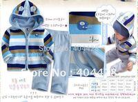 163# free shipment autumn winter style 4 design hoodies+pants baby suits 3pcs/lot