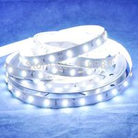 High Brilliant  5M 60 leds/m 300leds 25-35 Lumen DC12V SMD 7020 Flexible LED Strip Light Cool White