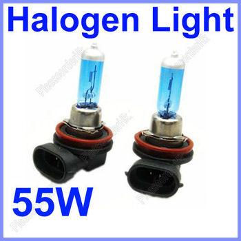 Hot 2x H11 Car Fog Light Bulb Lamp Super White 12V 55W 6000K Halogen Xenon Free Shipping