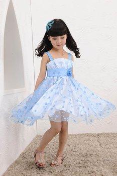 new 2014 new  girls dress flower girl  hight class children dress Beautiful princess dress for girls 2-6 Years free shipping