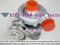 GT1749V 721164-0003 17201-27030 Turbo Turbocharger For TOYOTA RAV4,Previa Auris Avensis Picnic Estima 2001- 021Y 1CD-FTV 2.0L
