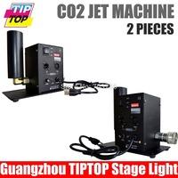 Bulk Price 2pcs/lot Single Pipe DMX512 CO2 Jet Machine Shoot 6-8M Up CO2 Machine Jet with 6Meter Hose Free Shipping 90V-240V