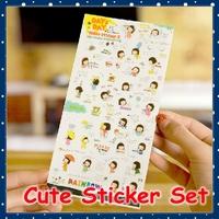 [FORREST SHOP] Kawaii Korean Stationery Kids Gift PVC Cute Cartoon Diary Stickers / Scrapbook Decoration Labels Sticker FRS-43