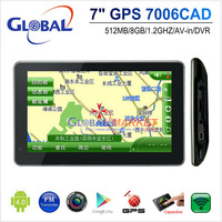 Free shipping new design 7 inch android 4.0 GPS MID with Car DVR function and tablet function,1.2GHz/8G/dual camera car GPS