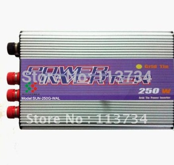 250W Wind Turbine Generator Micro on Grid Tie 50/60Hz MPPT Power Inverter dump load,invertor dc 12/24v to ac 220v