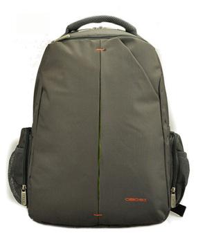 "Shockproof 14"" laptop computer backpacks for men Vintage waterproof nylon notebook bags Black Grey 811b011 Free shipping"