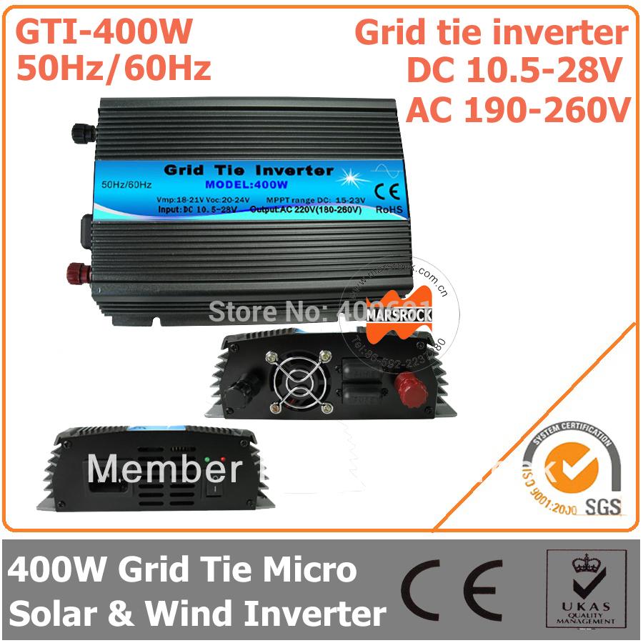 Инверторы и Преобразователи MARSROCK 400W 18 , 10,5 28 DC AC 190/260 GTI400W