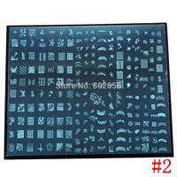 2PCS BIG SIZE XXL Print Nail Stamping  Image Plate Stamping Nail Art DIY Image Plate Template #1-#6 Can Choose
