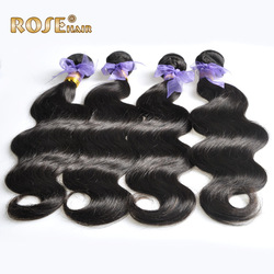 4pcs/lot Malaysia Hair weft,mix lengths 16&quot;18&quot;20&quot;22&quot;24&quot;28&quot; Good price body wave queen hair extensions,Remy human Hair,color 1b(China (Mainland))