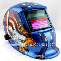 High-end LCD within large-scale operative temperature and wide visual angle Auto Darkening Welding Helmet  Free shipping!!