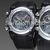 original Ohsen Sport watch Wristwatches mens boys waterproof analog-digital black plastic band fashion sport watches for gift
