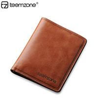 Vintage men purse Business fashion men wallet 100% cowhide genuine leather short brief Credit card wallet  Wholesale