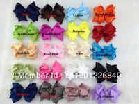 100pcs/lot 4-4.5inches,  ,Fashion ribbon bow,Hot Sale ,Ribbon bow,Hair Wear ,Ribbon Hair bow.Wholesale