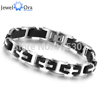 Hot Selling  Stainless Steel Bracelets  Fashion Jewelry Steel 210mm 304 Stainless Steel Men's Bracelets  #BA100163