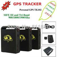 HOT Sale GPS TK102 Mini Personal GPS Tracker SOS Kid Tracker GPS Tracking Four bands 850/900/1800/1900MHZ Dropship Free Shipping