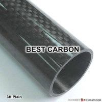 Free Shiping 4pcs x 10mm x 8mm x 1000mm High Quality 3K Carbon Fiber Plain Fabric Tube,Tail Boom,Quadcopter arms