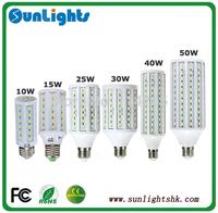 4pcs/lot 5630 5730 SMD led corn bulb E14 E27 B22 lamp 7w/10w/12w/15w/25w/30w/40w/50w LED corn lights