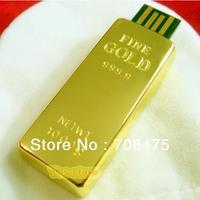 Golden Bar USB Drive 1GB 2GB 4GB 8GB 16GB 32GB Memory Flash Pendrive Stick  Free Shipping Stable Function