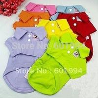 Mixed Colors 100% Cotton Pet Dog Clothes TShirt POLO Dog TShirt Size XS S M L