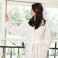 65%cotton 35%polyester waffle style kimono bathrobe . robes for women kimono bathrobe