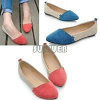 New Women Girl Shoes Ballet Low Heels Flat shoes Loafers Casual Comfort 3 Color free shipping 7760