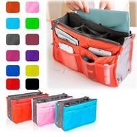 8 Colors Promotions Lady's Organizer Bag/Handbag Organizer/Travel Bag Organizer Insert With Pockets/Storage Bags b11 7907