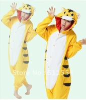 Free Shipping 2012 Hot sales Adult Tiger Sleepwear Cosplay Costume Fleece Animal Kigurumi Pajamas,FACTORY SALES ! ! !