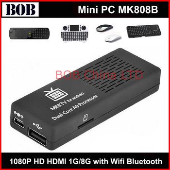 Newest !  MK808B Android 4.2.2 Dual Core 1.6GHz 1GB/8GB HDMI 1080P WIFI bluetooth 3D Mini PC
