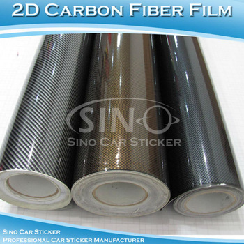 "12""x50"" 30cmx127cm Free Shipping Glossy 2D Carbon Fiber Sticker/Car Wrap Carbon Fiber Vinyl Film"