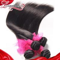 Unprocessed Brazilian Virgin Hair Straight 6A Human Hair Weave Straight 3PCS Lot Unprocessed Virgin Brazilian Hair LQBST006