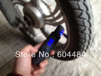 Portable LCD Digital Tire Pressure Gauge tester with tread depth measurement for Any car with flashlight 0.0-100PSI/wholesale