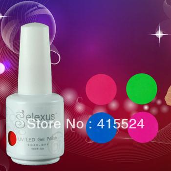 Free shipping 2014 Hot sale soak off UV Gel Polish15ML Color Gel+Base Gel+Top Coat 242Fashion Available 12Pcs/set