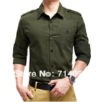 Free shipping 2013 summer new men's shirt men's long-sleeved Slim stylish casual shirts 6618
