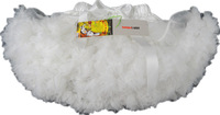 Fashion kids girls white fluffy petti skirts  petti coat Girls dance tutu skirts  party wear 2-9 Ys