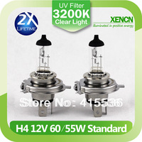 GM H4 P43t 12V 60/55W 3200K Clear White Car Headlight Bulbs Brand New Halogen Light Auto Lamps Free Shipping 2PCS