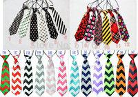 135 designs free shipping baby/kid/children ties neck tie ties Boys Girls tie 20pcs/lot silk print necktiesColors can choose