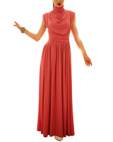 free shipping  2013 Low-key Luxury gorgeous romantic stand-up collar jumpsuit evening novelty dress Plus size WQL073
