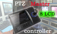PTZ / DVR System Controller with 8 inch LCD screen 3D joystick keyboard USB VGA  compatible pelco D and  pelco P