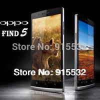 Original 5 inch Oppo Find 5 phone quad core Qualcomm Snapdragon APQ8064 1920x1080 2G ram 16G rom 13MP camera WCDMA smart phone