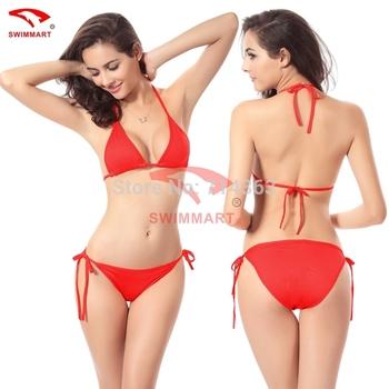 Free Shipping  New Arrival 2014  Fashion Swimsuit Women Sexy Bikini Set Vintage Beach Wear  Top and Bottoms Swimwear 10 colors