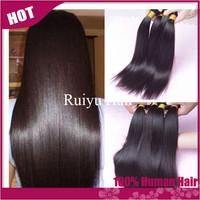 "Grade 5A Brazilian virgin hair straight 3/4pcs lot,cheap brazilian hair weave bundles 8""-30"" remy human hair extension very soft"