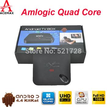 1pc Rooted MXIII 2G 8G Amlogic S802 Quad Core TV Box XBMC Gotham Android 4.4 Kitkat 2.4G&5G Dual Wifi 2G Ram 8G Rom BT 4.0 HDMI