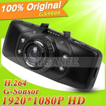 [Cheap] 100% Original Ambarella Chip GS9000 Car DVR Recorder+178 Degree lens+1080P Full HD+G-Sensor+2.7 LCD screen