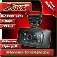 Hotsell High Quality GS8000 Full HD1920*1080 25FPS Car Dvr Camera Black Box Recorder Video 140degree Angle HDMI Freeshipping
