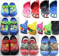 free shipping wholesale 2013 new fasion cute cartoon car style garden shoe for children sandals slippers boys and girls flat