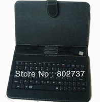 "USB Keyboard & Leather Cover 7 pc , Case for 7"" Tablet PC , English or Russian keyboard case, dropshipping"
