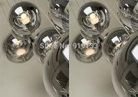 Modern chrome ball pendant light brief restaurant /living room / bar /stair light (Diameter 200-400mm)