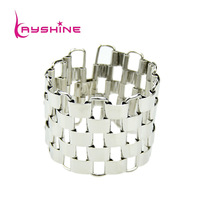Hot Selling Novel Design Gold Color Square Chain Fashion Bangles and Bracelet Jewelry